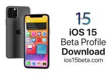 iOS 15 Beta Profile Download